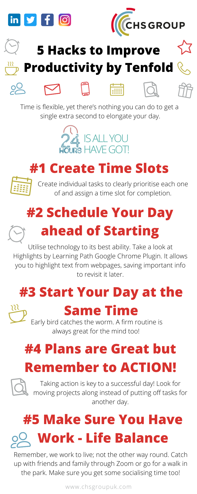 CHS Group Infographic - improve productivity